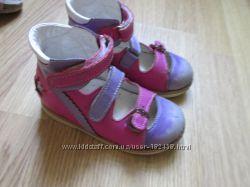 Кожаные туфли Ortofoot 25 размер 16см