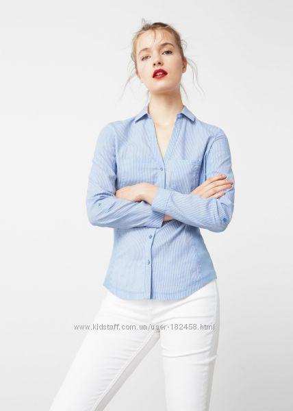 Голубая Рубашка Mango L