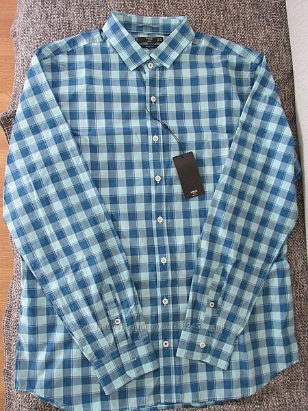 Рубашка-клетка  Mango XXL eur