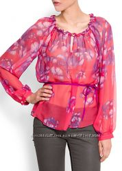 Шелковая блузка Mango мега цена L