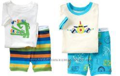 Пижамы с коротким рукавом GAP baby 19 расцветок