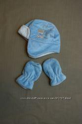 Шапка и рукавички George 12-18 месяцев идеальное состоянии