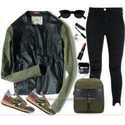 деми куртка Zara p-M на бирке указан L