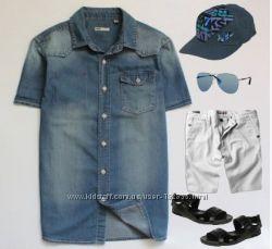 джинсовая тениска WE 152-158 рост