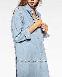 рубашка платье Zara p-S