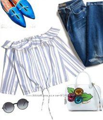 блуза топ Zara p-M можно S