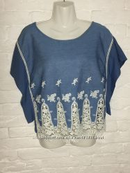 вышитая футболка Zara р-М 28