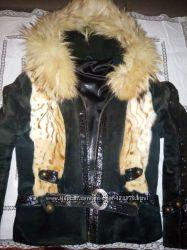Замшевая курточка с нат. мехом