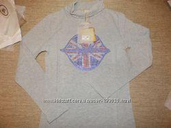 Гольф девочке, для модниц со стразами  серый 146