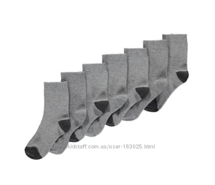 Носки мальчику размер  23 - 40 Упаковка 7 шт, george