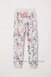 Спортивные штаны, джоггеры девочке 5 6 7 8 9 лет от H&M