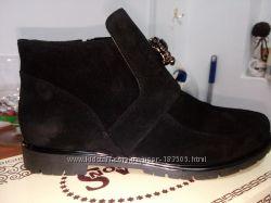 модные ботинки натур кожа