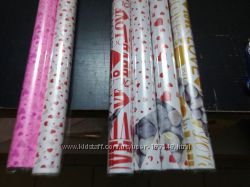 Подарочная бумага Ретро- валентинки