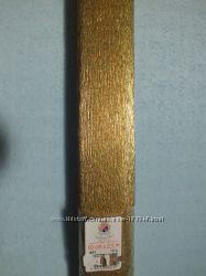 Креп-бумага золото производитель Cartiera Rossi, Италия