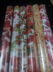 Бумага подарочная  мелованная  валентинки