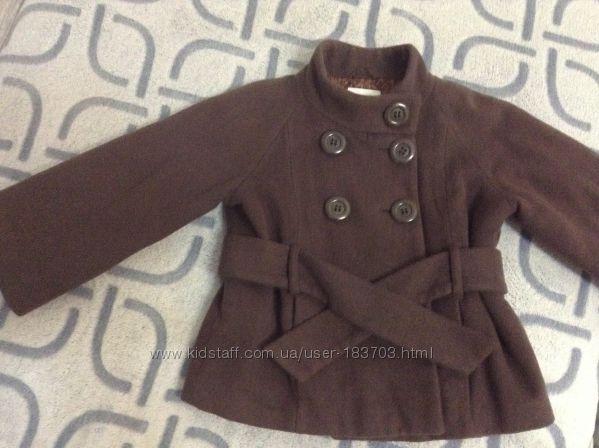 Шерстяное пальто NEXT, на девочку 5-6  лет
