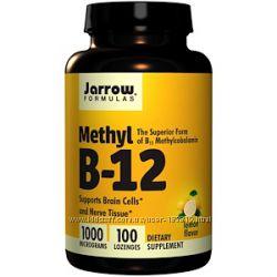 Jarrow Formulas, Метил B-12, вкус лимона, 1000 мкг, 100 табл. В нал. Позня