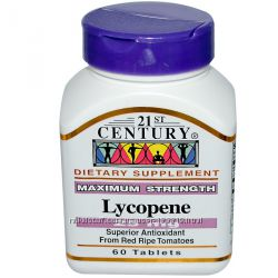 21st Century, Ликопин, макс эффективность, 25 мг, 60 таб. в нал. Позняки
