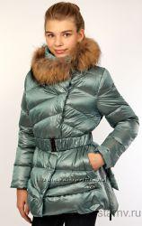 Пальто куртка пуховик Via Lattea Италия на рост 145-155 жемчуг и бирюза