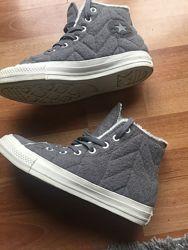 Ботинки кеды на меху р 37-38 Converse Конверс новые