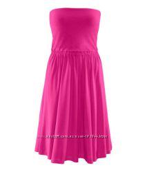 Платье H&M  2 цвета вискоза  трикотаж, р S, XS