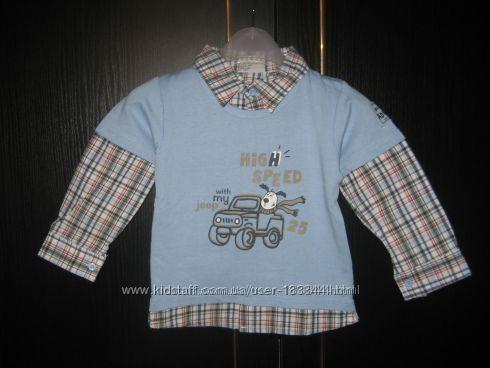 Рубашка Тополино Германия рост  92, хлопок, качество мега