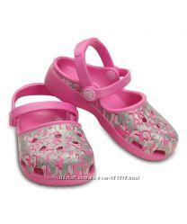 CROCS Party Pink Karin Sparkle Leopard Clog с8, с12 р. 24, 29 оригинал