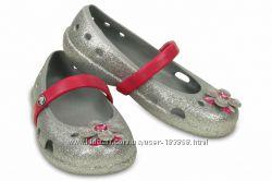 Crocs Keeley Springtime Glitter Flats с9. Балетки р. 25-26 оригинал