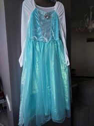 карнавальное платье Эльзы 9-10 лет, р.140 с поющей брошью, Disney в отл. со