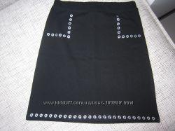 Юбка  черная стильная школьная р.10-12 лет Kidpik