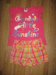 Яркий комплект на лето - шортики и  футболочка