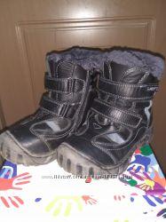 Зимние сапоги с ледоходами, кожа цигейка 30р,