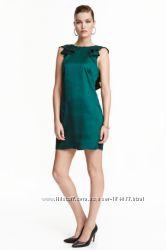 Нарядное платье с открытой спиной hm, размер s