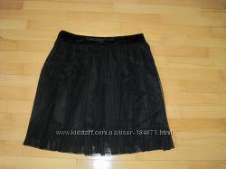новая черная юбка Oggi бархат и шифон