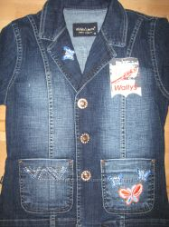 джинсовая куртка - пиджак  wallys jeans с биркой