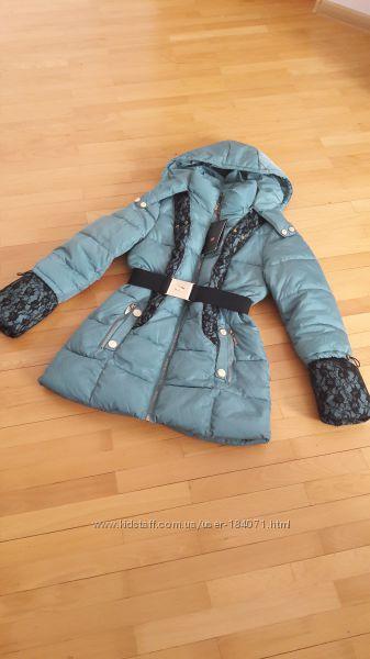 Куртка бирюза кружево гипюр с биркой