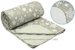 Одеяло летнее РУНО с принтом клеточка, полосочка, звездочка