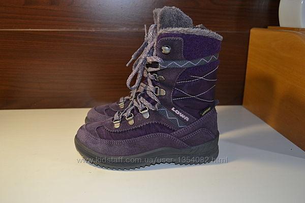 Lowa emely gtx 30р сапожки ботинки зимние кожаные gore-tex
