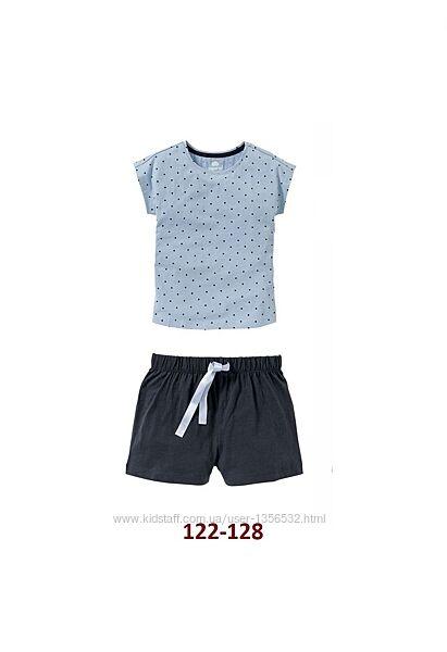 Пижама летняя, шорты и футболка, 122-128, Германия