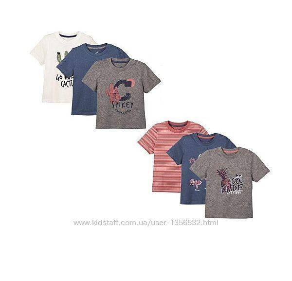 Футболка, футболки 3 шт. в комплекте, 86-92, 98-104, 110-116, Германия
