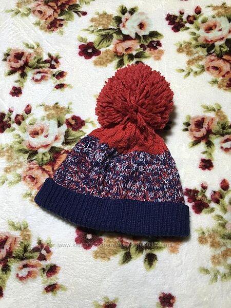 Детская шапка George Джордж 6-12 месяцев оригинал сине-красная