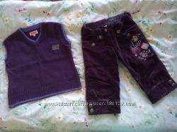 Продаётся набор, одежда детская, жилетка, тёплые бриджи на девочку 4 и 5 ле