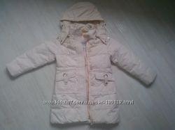 Детский демисезонный пуховик пальто куртка на девочку 5-6 года