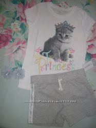 Шорты футболка комплект бренд Carter´s и childrens placе США 6 - 7 лет