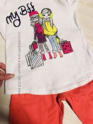 Детская одежда комплект брюки штаны и кофта на девочку 6, 7 лет oshkosh