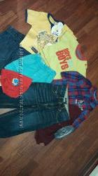 Большой комплект одежды на мальчика 0-6, 6-12 мес.