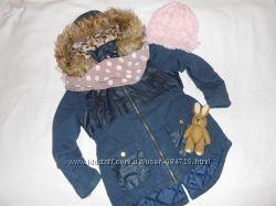 Классная деми парка - куртка Matalan на девочку 5-6. 5 лет
