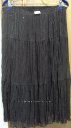 Новая красивая шифоновая юбка Шоколадного цвета размер FREE