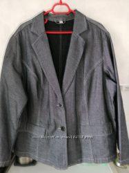 Новый джинс жакет р. 54-56 евро 50 Шикарный KLINGEL Германия