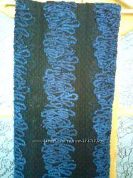Отрез  эксклюзивной ткани, гипюр с отделкой велюром, цена за отрез 2м Дешев
